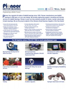 Pioneer Motor Bearing Facts Sheet
